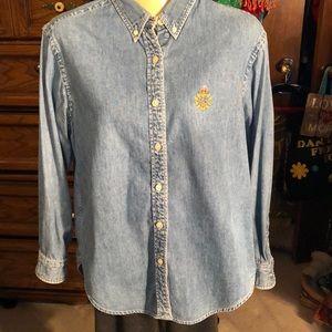 Classic Ralph Lauren denim button up shirt